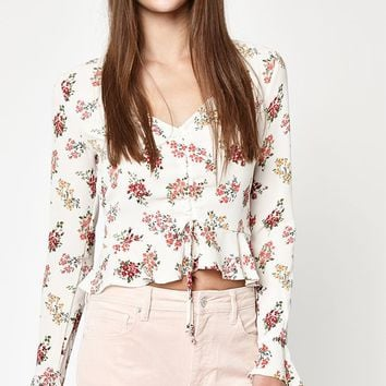 LA Hearts Long Sleeve Cinched Top at PacSun.com