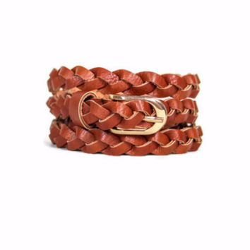 Braided Belt in Brown