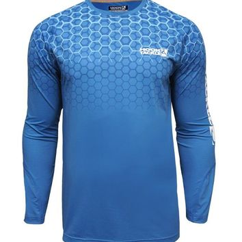 Men's Hexagon Vented L/S UV Fishing Shirt