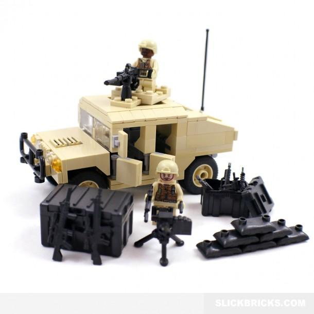 Desert Army Humvee Lego Compatible From Slick Bricks Cool