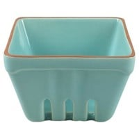 Small Stoneware Square Berry Basket Green - Threshold™