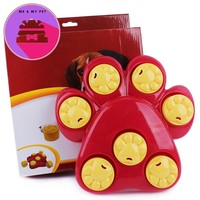 New 25*25*4.5CM Funny Pet Training Bowl Feeder 7 Holes Dog Paw Educational Toys Puppy Puzzle Intelligent Supplies T20
