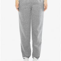 Unisex Peppered Fleece Boyfriend Sweatpant | American Apparel