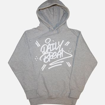 Stacked Hoodie - Heather Grey/White