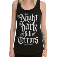 Game Of Thrones Night Is Dark Girls Tank Top