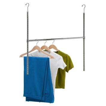 Honey-Can-Do™ HNG-01816 Adjustable Hanging Closet Rod, Chrome