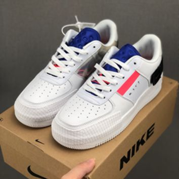 HCXX 19July 606 Nike Air Force 1 Low Type CMFT Signature CI0054-100 Fashion Causal Skateboard Shoes