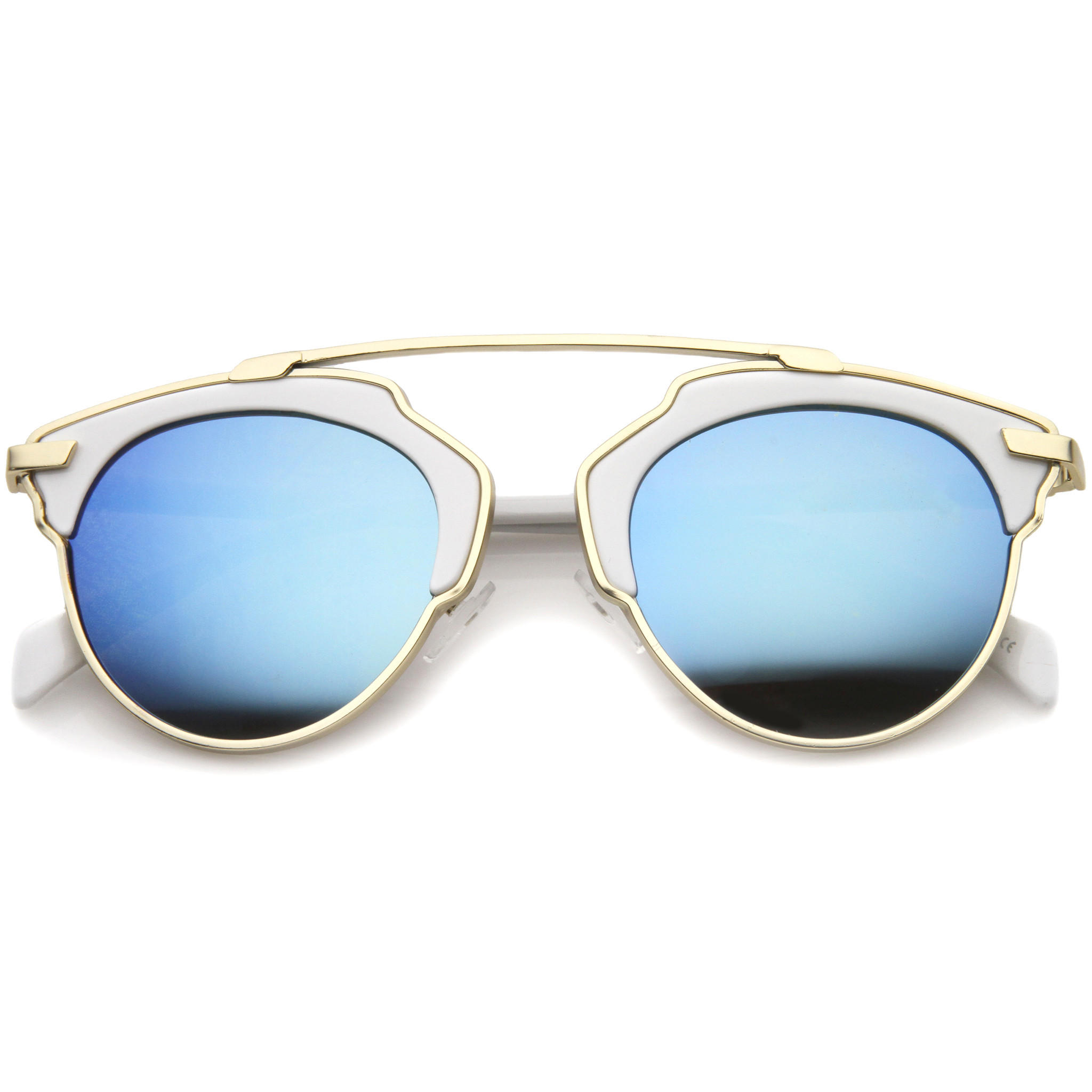 aviator sunglasses reflective  Shop Silver Mirrored Aviator Sunglasses on Wanelo