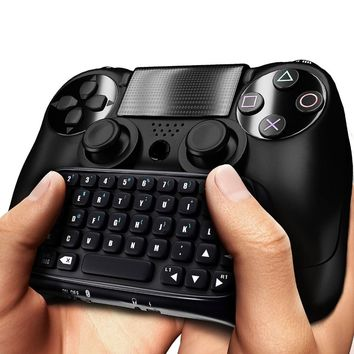 For PS4 Mini Bluetooth Wireless Keyboard Joystick Chatpad for Sony Playstation 4 For PS4 Controller