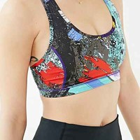 Without Walls Painted 90s Keyhole Racerback Sports Bra - Urban Outfitters