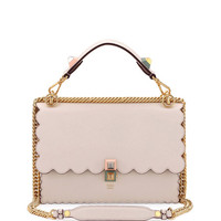 Fendi Kan I Regular Leather Scalloped Shoulder Bag