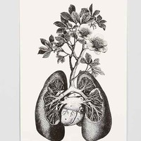 Cirque D'Art Lungs Art Print- Black & White One