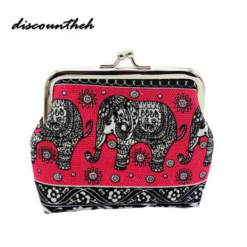 Retro Vintage Elephant Coin Purse Women Lady Small Wallet Hasp Purse Clutch Kawaii Bag Coin Purse And Card Holder
