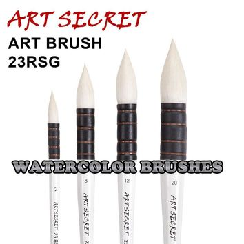Wool Hair Watercolor Paint Brush Professional Pointed Black&White Handle Painting Brushes Art brushes 23RSG artist brush