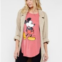 CLASSIC MICKEY MOUSE SHIRT TAIL HEM TEE - Short Sleeve - Tops - Womens