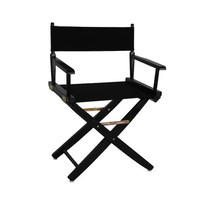 Yu Shan Extra-wide Premium Directors Chair Black Frame with Black Color Cover