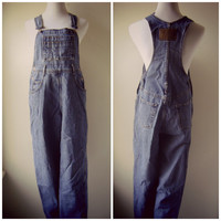 90s blue jean overalls | vintage 1990s denim bibs | ladies medium | grunge jeans | bib overalls | denim jumpsuit | denim romper | playsuit
