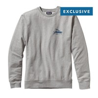 Patagonia Men's Flying Fish Midweight Crew Sweatshirt | Feather Grey