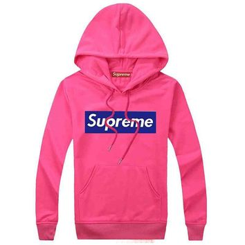 Supreme Women Men Fashion Casual Top Sweater Pullover Hoodie-70