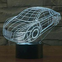 Christmas Gift Product 3D Car Shape Lamp Colorful Night Light Switch