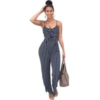 Striped Spaghetti Strap Romper