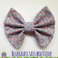 Vineyard Vines Pink and Blue Hair Bow