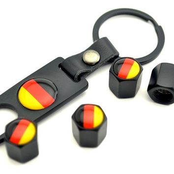 Germany Flag Styling Keyfit Car Auto Tire Valve Dust Caps