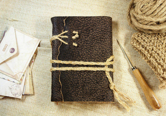 Brown Rustic Leather Journal Vintage From Medieval Journey