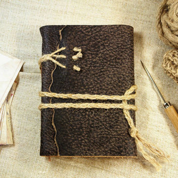 shop rustic leather journals on wanelo