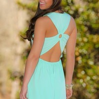 What You Know Dress-Mint