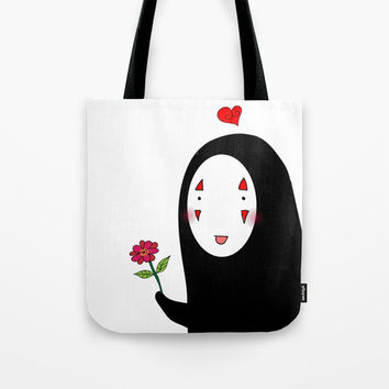 Kaonashi : Be My Valentine Tote Bag by Shashira Handmaker