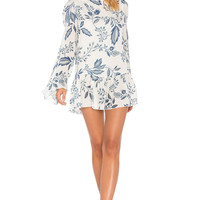 STONE_COLD_FOX Montauk Dress in Indigo Floral | REVOLVE