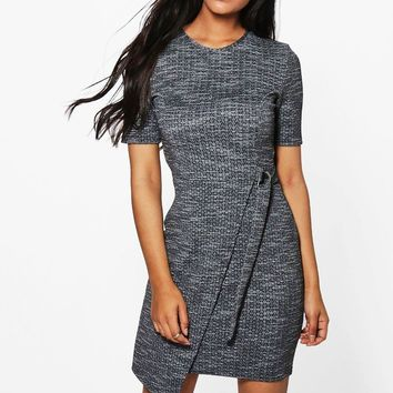 Lois Marl Belted Midi Dress