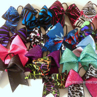 Grab Bag Bow Large Cheer Bow Hair Bow by SparkleBowsCheer on Etsy