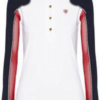 Ariat - Marquis mesh-paneled stretch-jersey top
