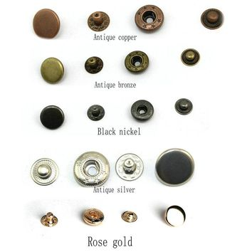 831 snap buttons +tool  Metal Press Studs Sewing Button Snap Fasteners Sewing Leather Craft Clothes Bags