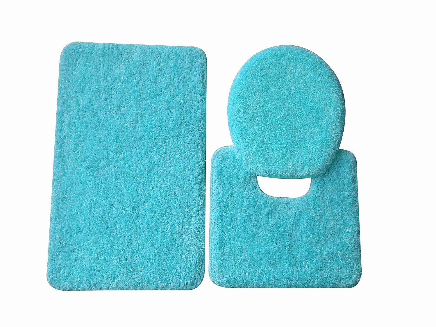 3 piece bathroom rug set from naturally home