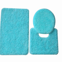5th Avenue 3 Piece Bathroom Rug Set - Bath Mat, Contour, Cover in Various Colors