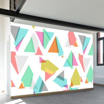 Happy Triangles Wall Mural
