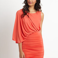 ideeli | GRACIA One-Shoulder Gathered Dress