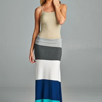 Atlantis Maxi Skirt- Blue
