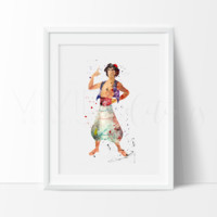 Aladdin Watercolor Art Print