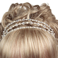 Three Band Tiara,Wedding Headdress,Tiara Band,Bridal Headdress.Wedding Accessories
