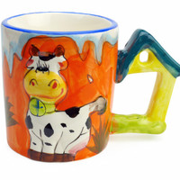 Cup With Sound of Animal: Cow