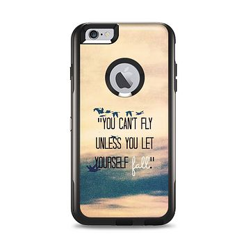The Pastel Sunset You Cant Fly Unless You Let Yourself Fall Apple iPhone 6 Plus Otterbox Commuter Case Skin Set