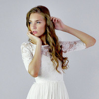 Lace wedding top separate - Heloise