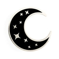 These Are Things Crescent Moon Enamel Pin