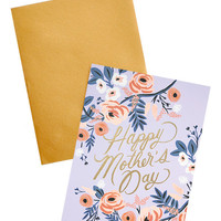 Floral Foil Mother's Day Card