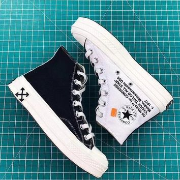 Off-White x Converse Chuck Taylor 70s Black White - Best Deal Online
