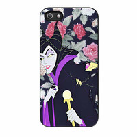 Malficient Disney Floral iPhone 5 Case